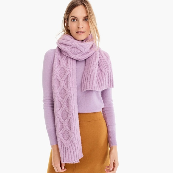 New J.Crew Oversized Cable Knit Scarf